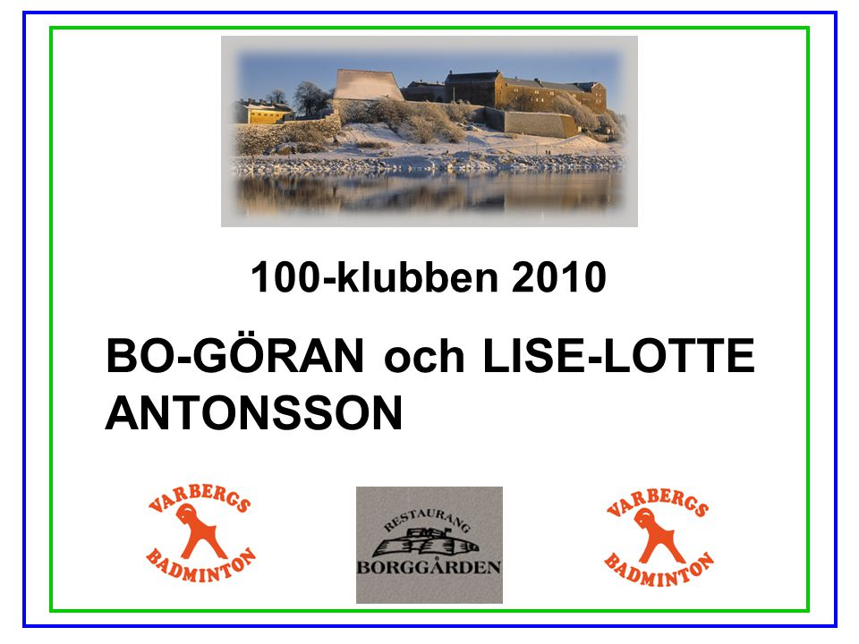 BO-GÖRAN och LISE-LOTTE ANTONSSON