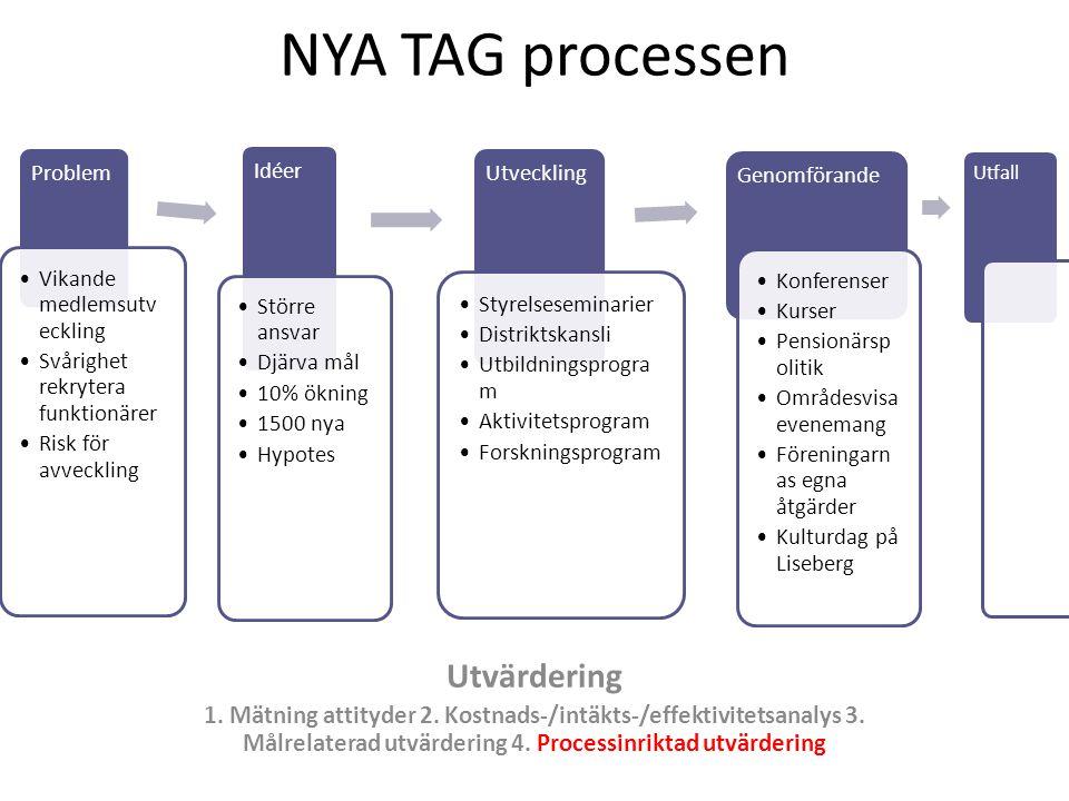 NYA TAG processen Utvärdering