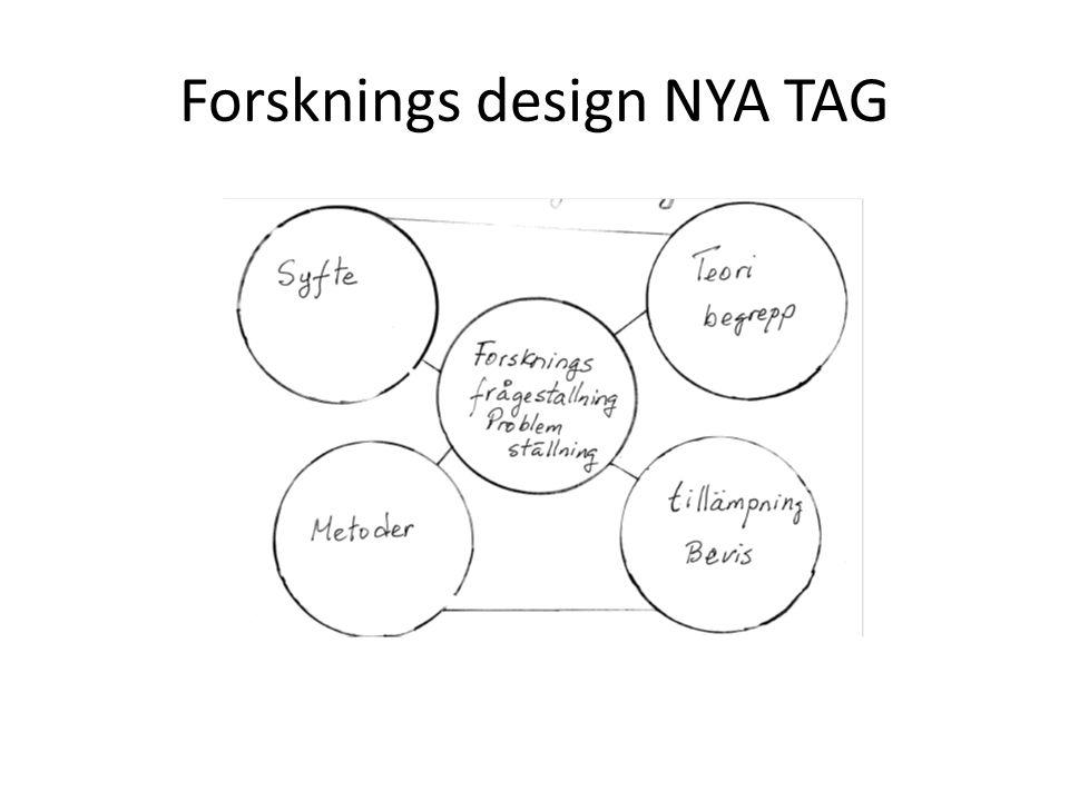 Forsknings design NYA TAG