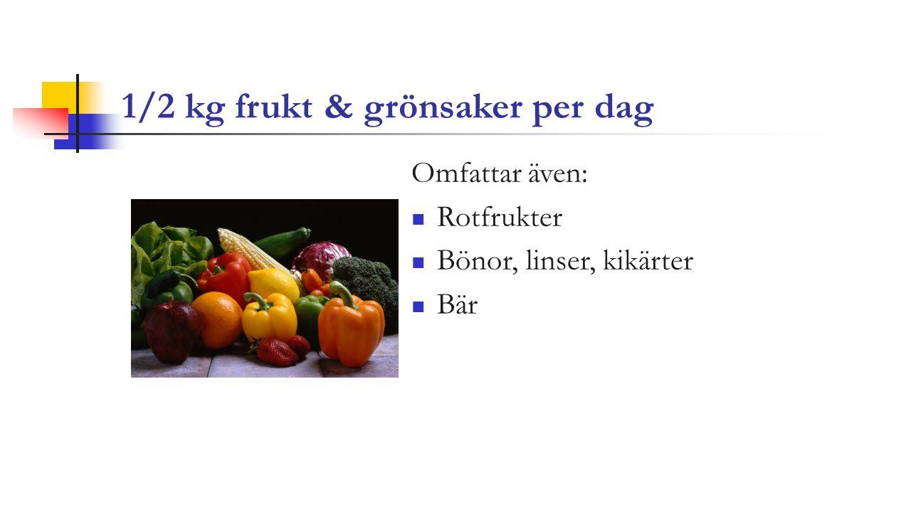 1/2 kg frukt & grönsaker per dag