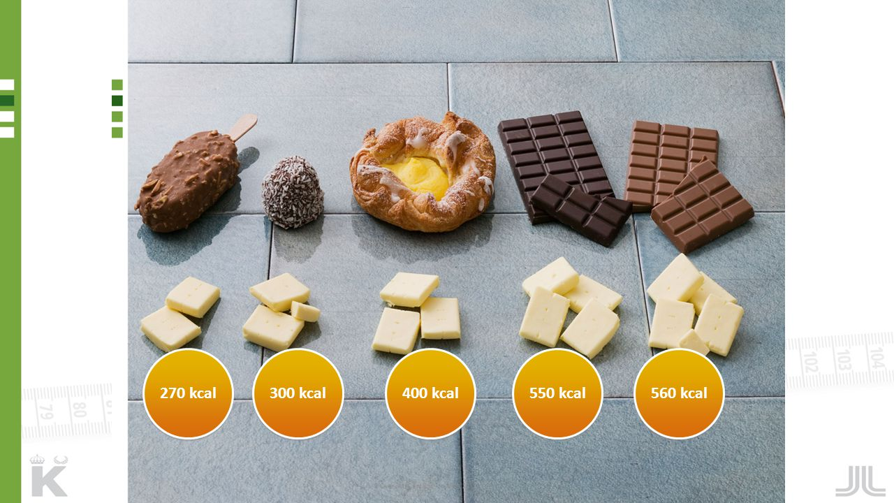 270 kcal 300 kcal 400 kcal 550 kcal 560 kcal