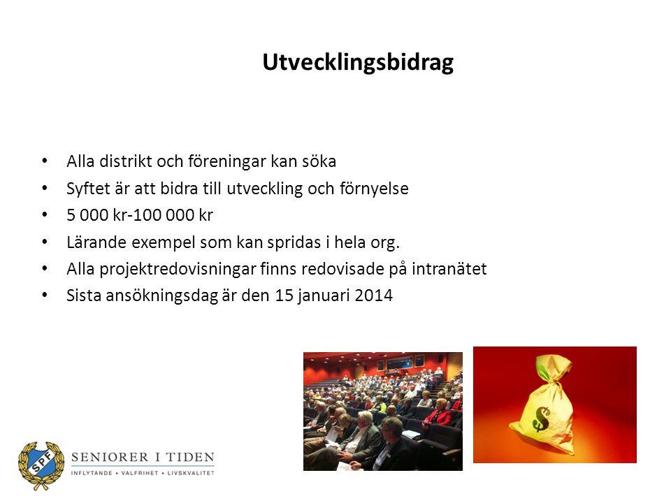 Utvecklingsbidrag – riktlinjer 2013