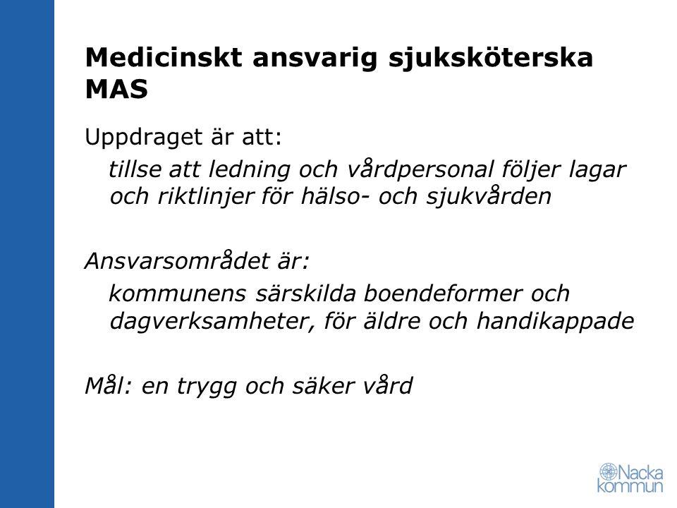 Medicinskt ansvarig sjuksköterska MAS