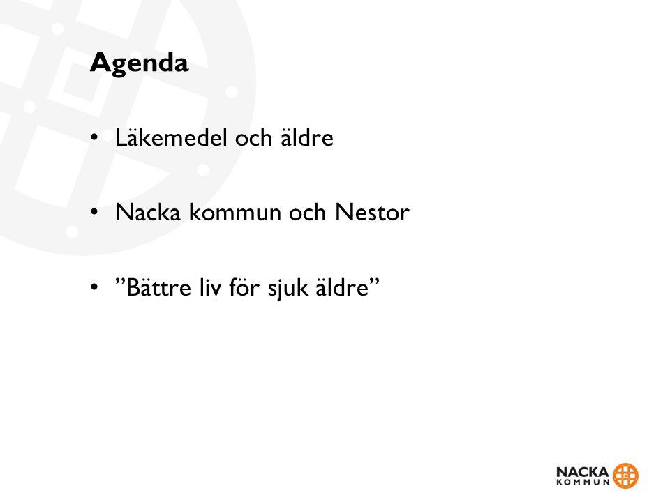 Agenda Läkemedel och äldre Nacka kommun och Nestor
