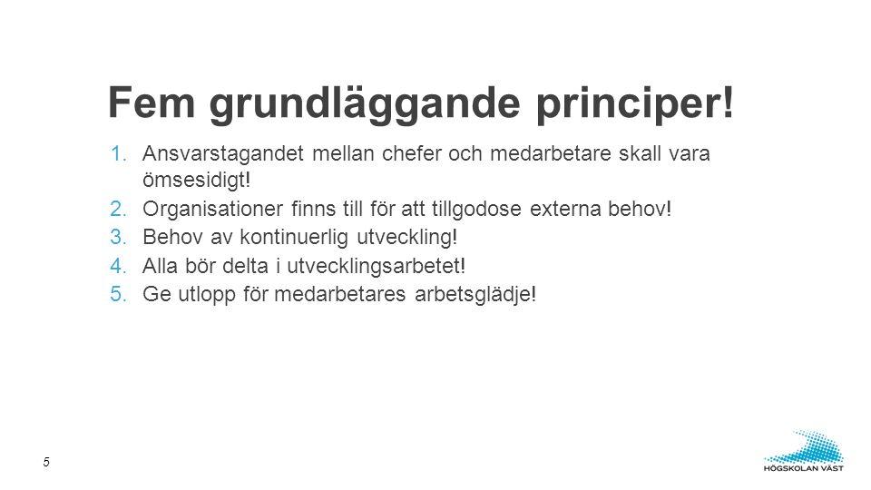 Fem grundläggande principer!