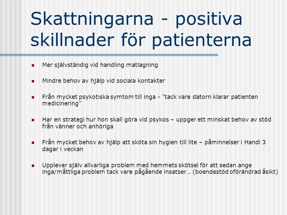 Skattningarna - positiva skillnader för patienterna