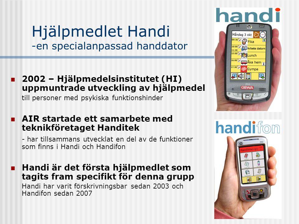 Hjälpmedlet Handi -en specialanpassad handdator