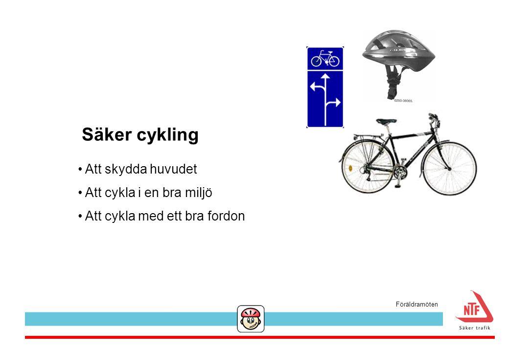 Säker cykling Att skydda huvudet Att cykla i en bra miljö