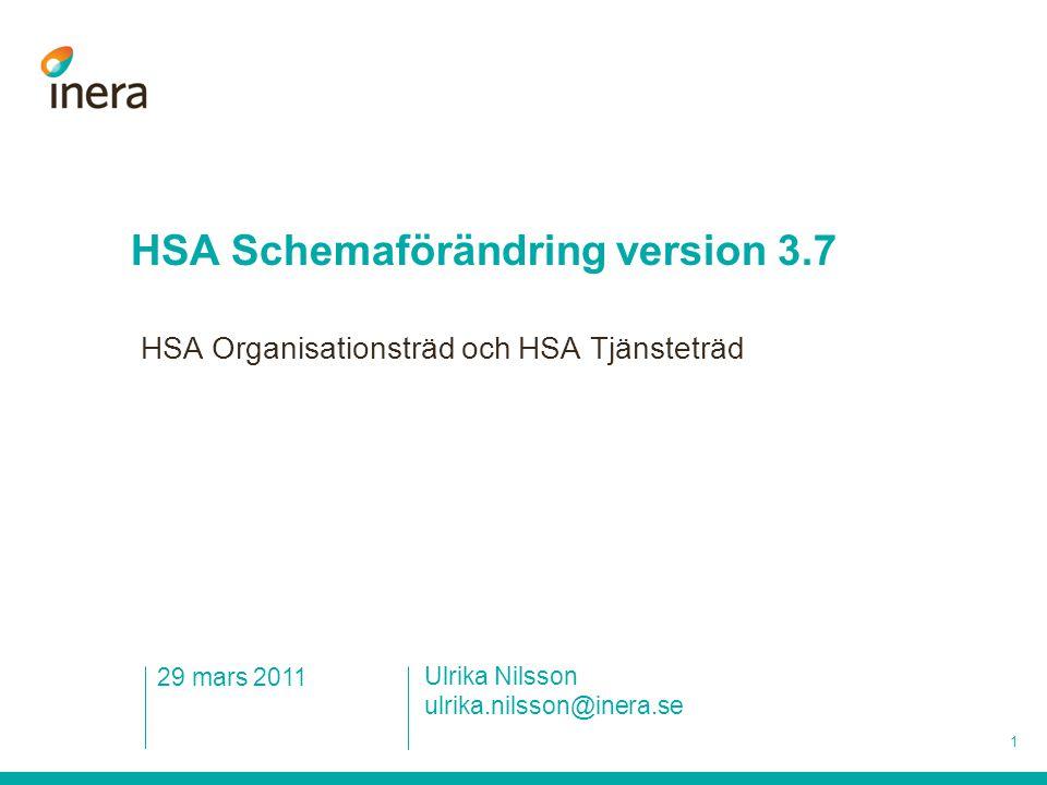 HSA Schemaförändring version 3.7