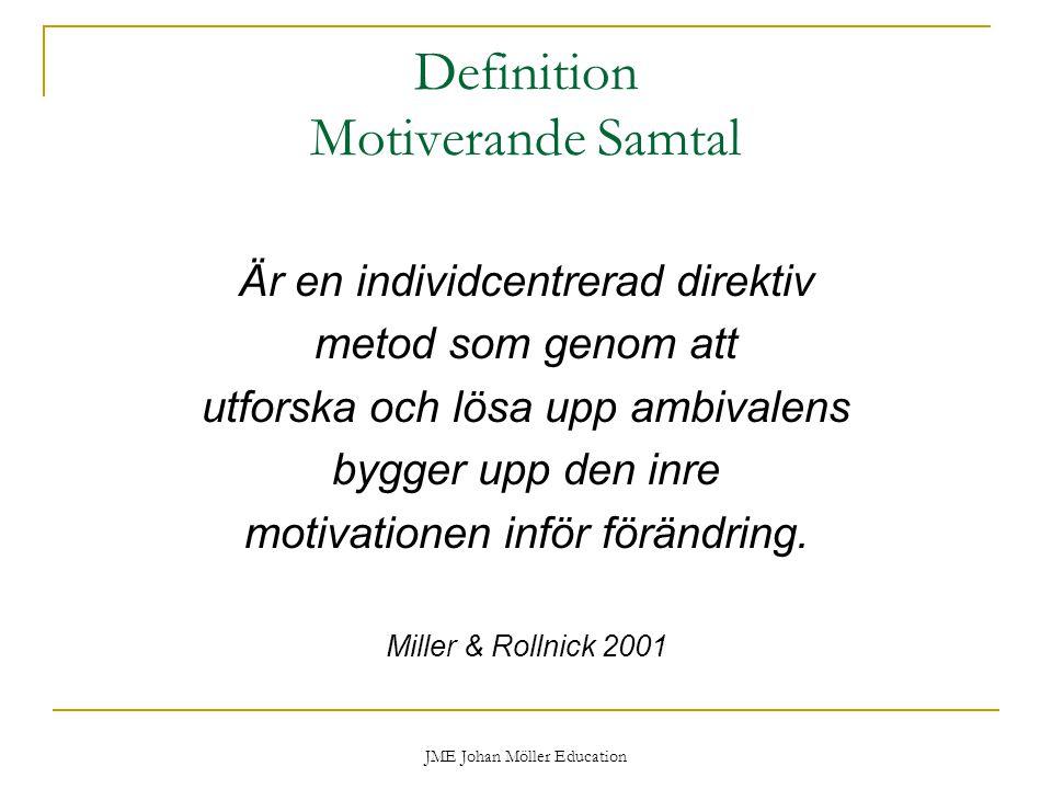 Definition Motiverande Samtal