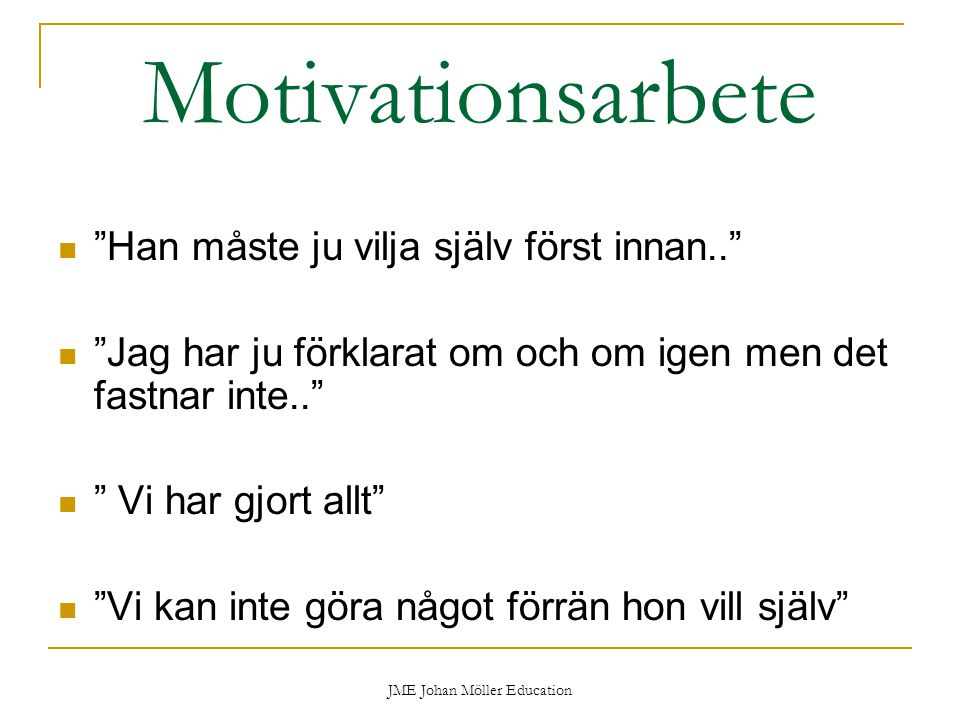 JME Johan Möller Education