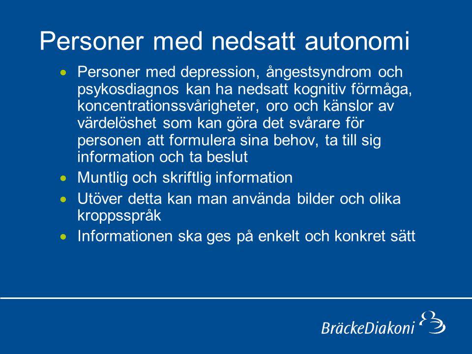 Personer med nedsatt autonomi