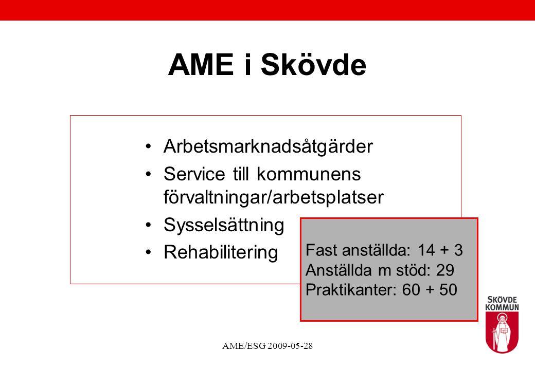AME i Skövde Arbetsmarknadsåtgärder