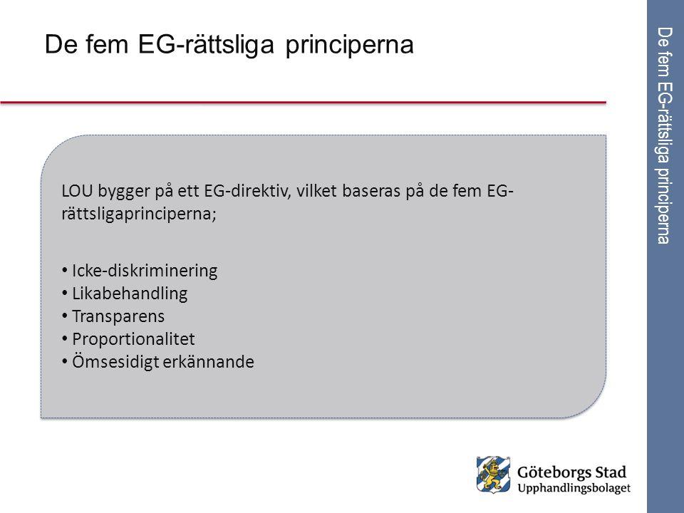 De fem EG-rättsliga principerna