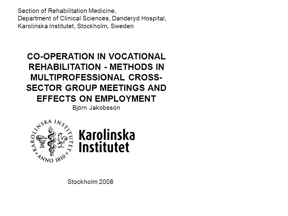 Section of Rehabilitation Medicine,