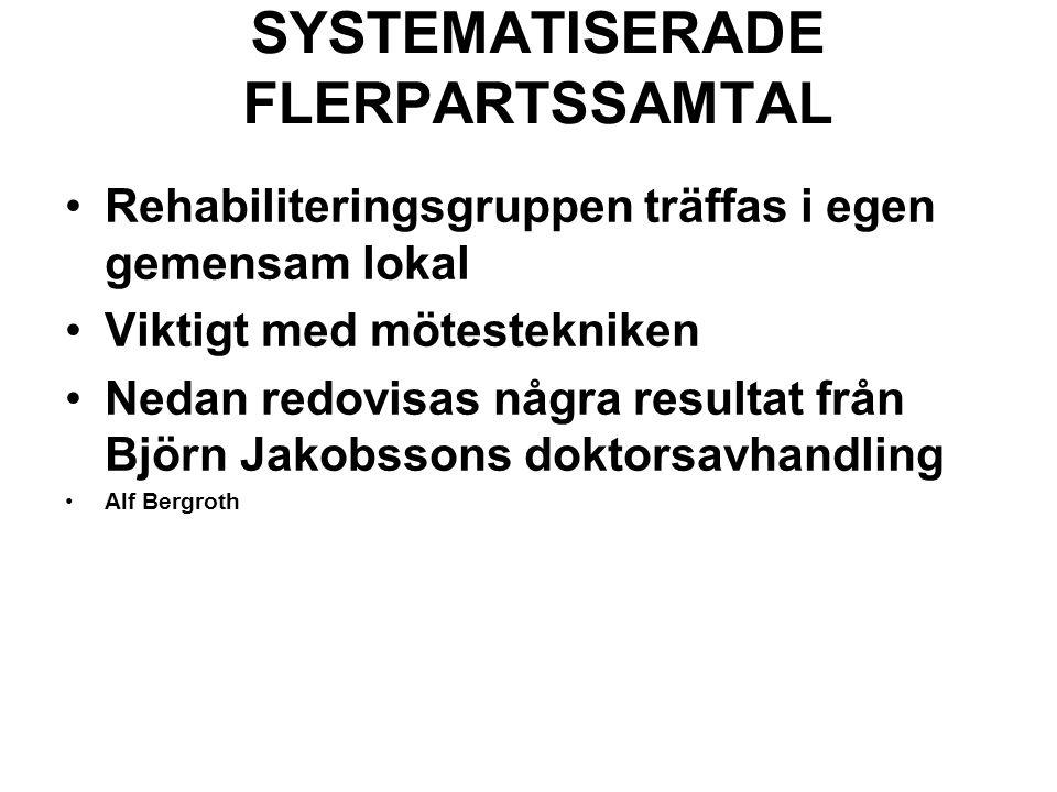 SYSTEMATISERADE FLERPARTSSAMTAL