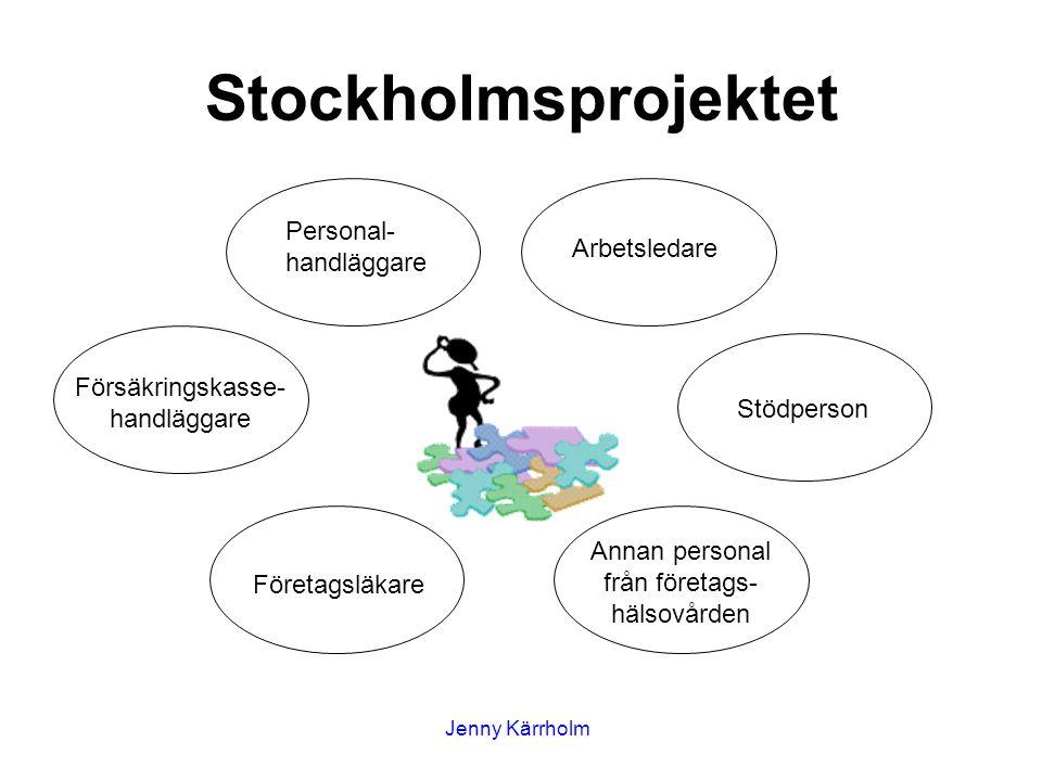 Stockholmsprojektet Personal-handläggare Arbetsledare
