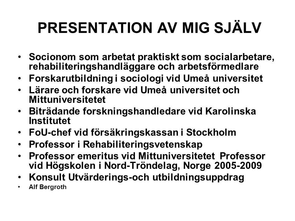 PRESENTATION AV MIG SJÄLV