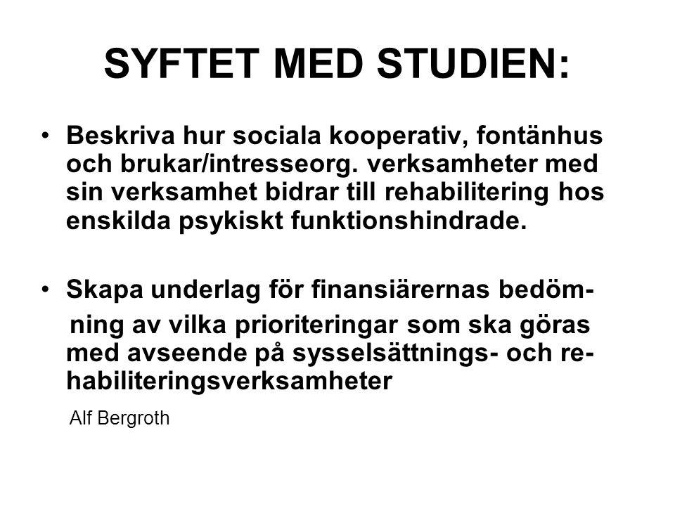 SYFTET MED STUDIEN: