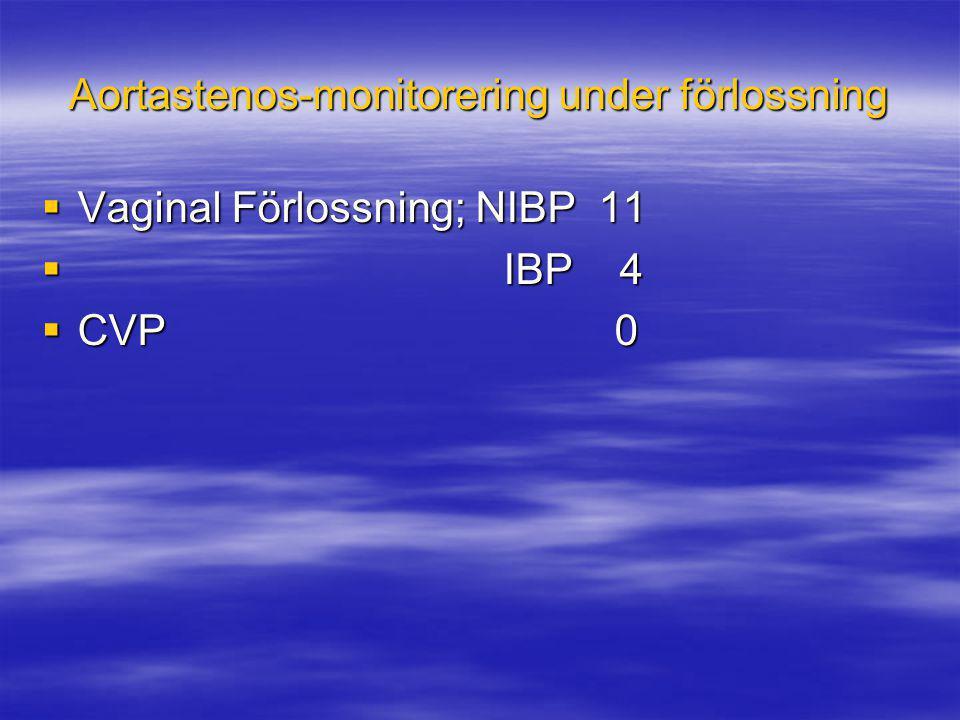 Aortastenos-monitorering under förlossning