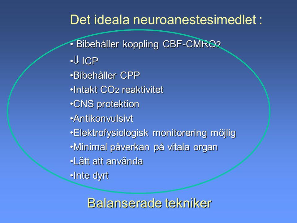 Det ideala neuroanestesimedlet :
