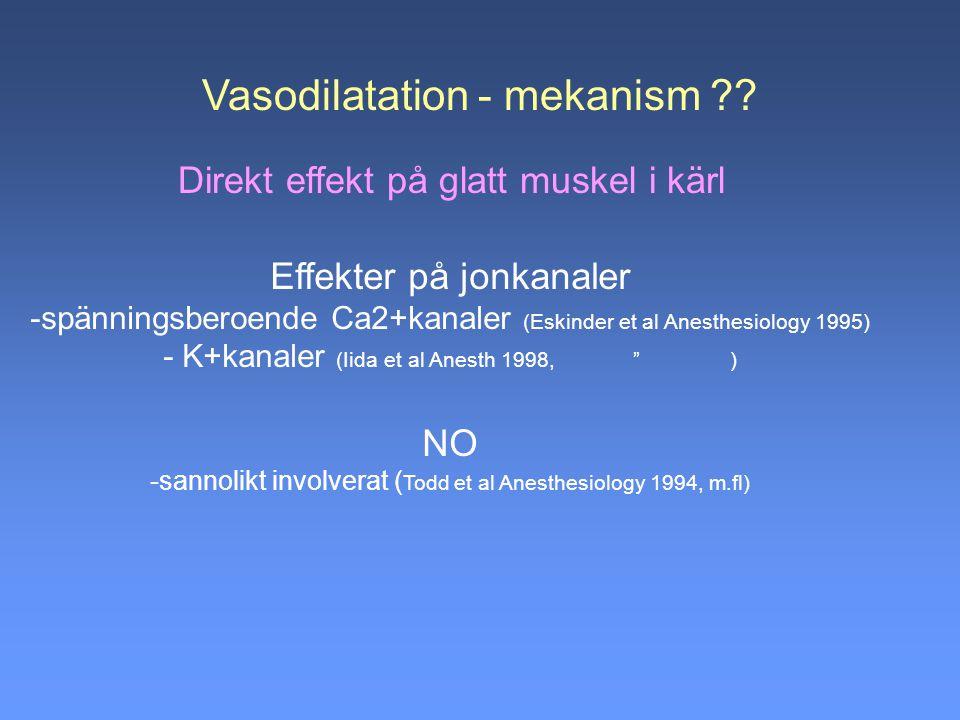 Vasodilatation - mekanism