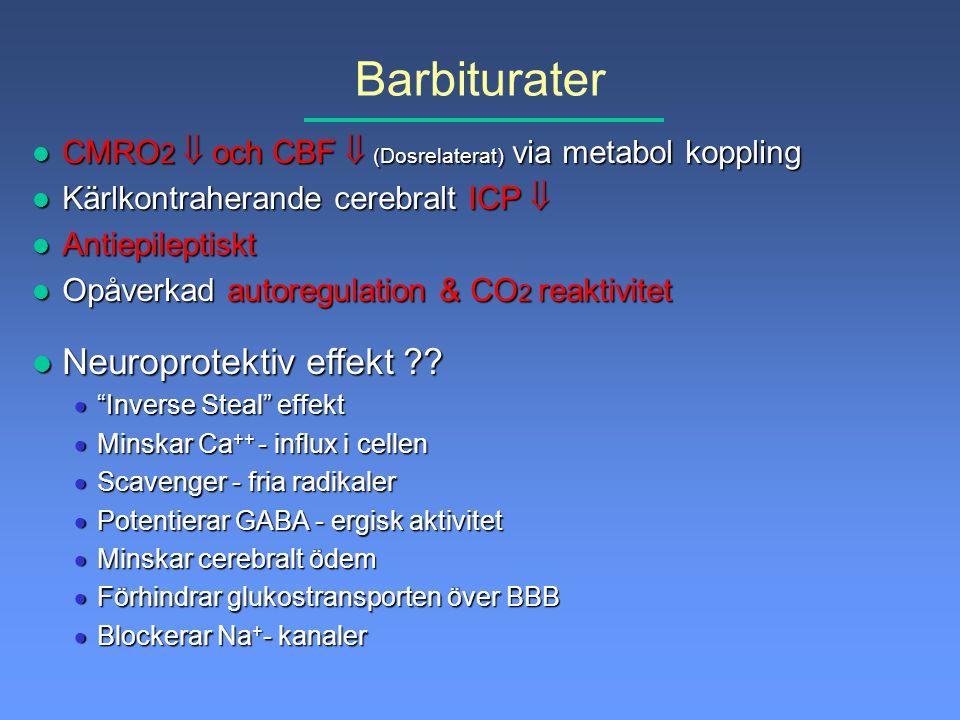 Barbiturater Neuroprotektiv effekt