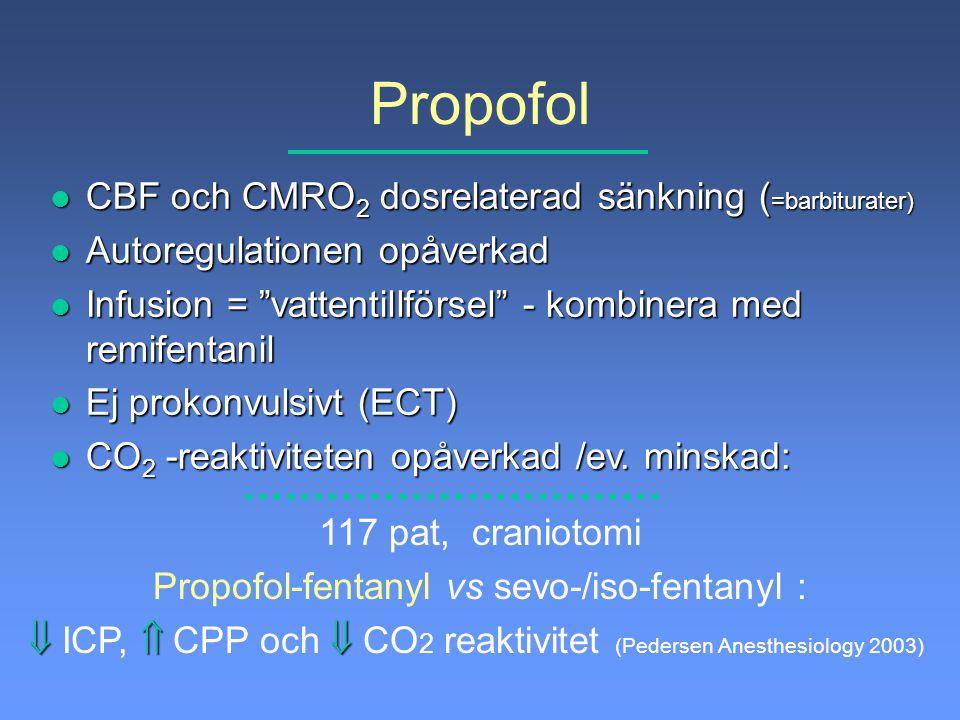 Propofol-fentanyl vs sevo-/iso-fentanyl :