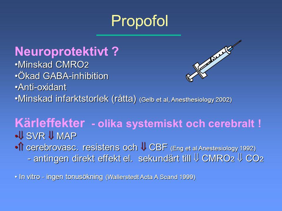 Propofol Neuroprotektivt