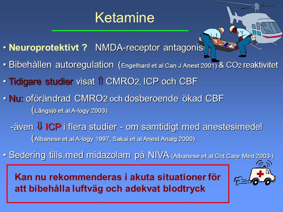Ketamine Neuroprotektivt NMDA-receptor antagonism