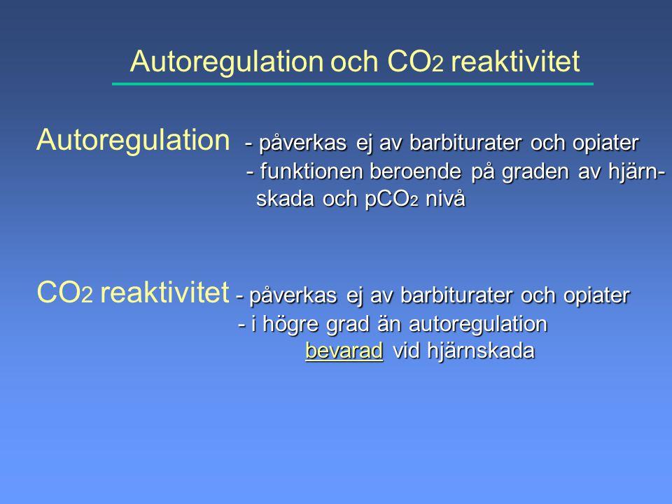 Autoregulation och CO2 reaktivitet