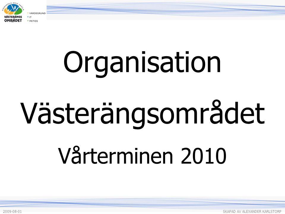 Organisation Västerängsområdet Vårterminen 2010