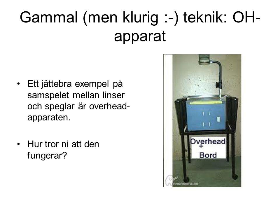 Gammal (men klurig :-) teknik: OH-apparat