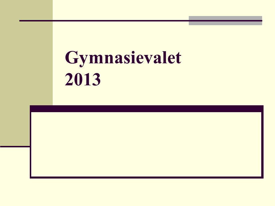 Gymnasievalet 2013