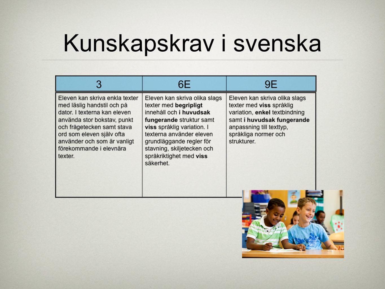 Kunskapskrav i svenska