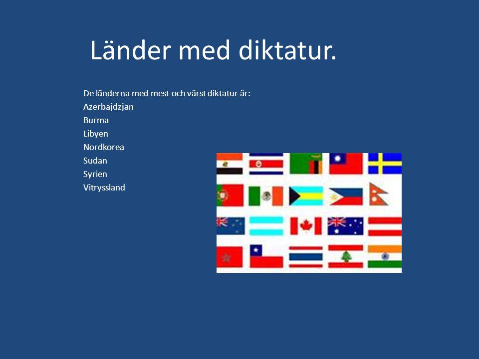 Länder med diktatur.