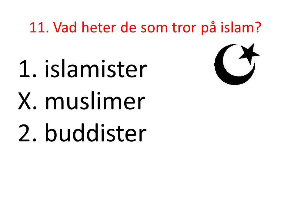 11. Vad heter de som tror på islam