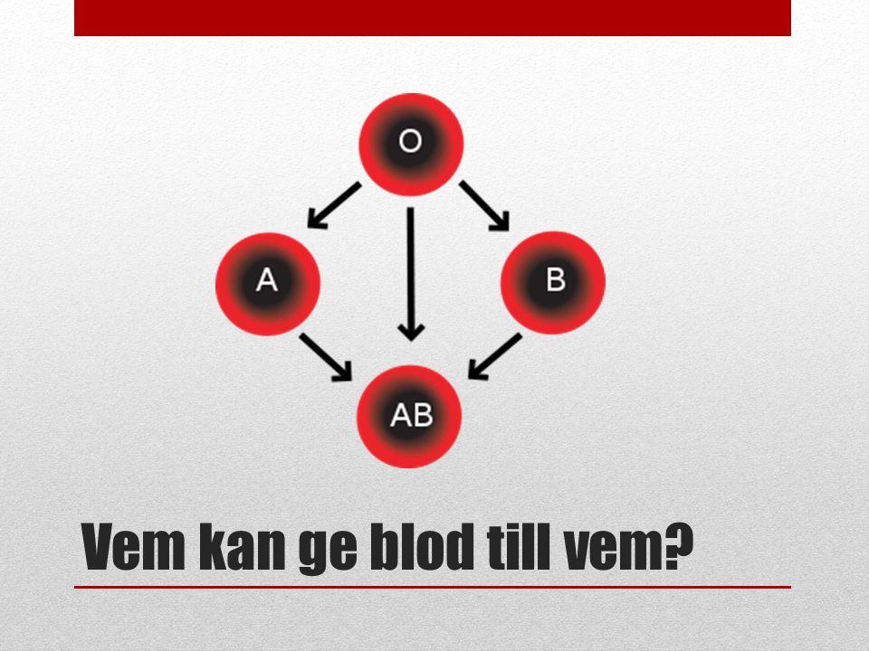 Vem kan ge blod till vem