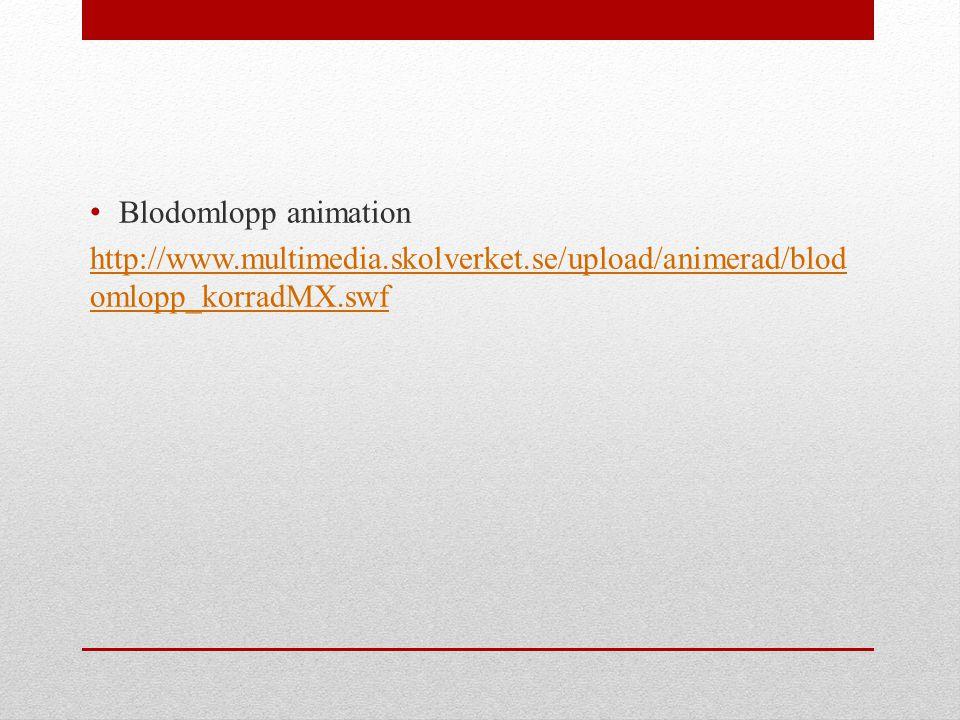 Blodomlopp animation http://www.multimedia.skolverket.se/upload/animerad/blodomlopp_korradMX.swf