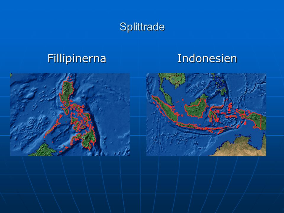 Splittrade Fillipinerna Indonesien