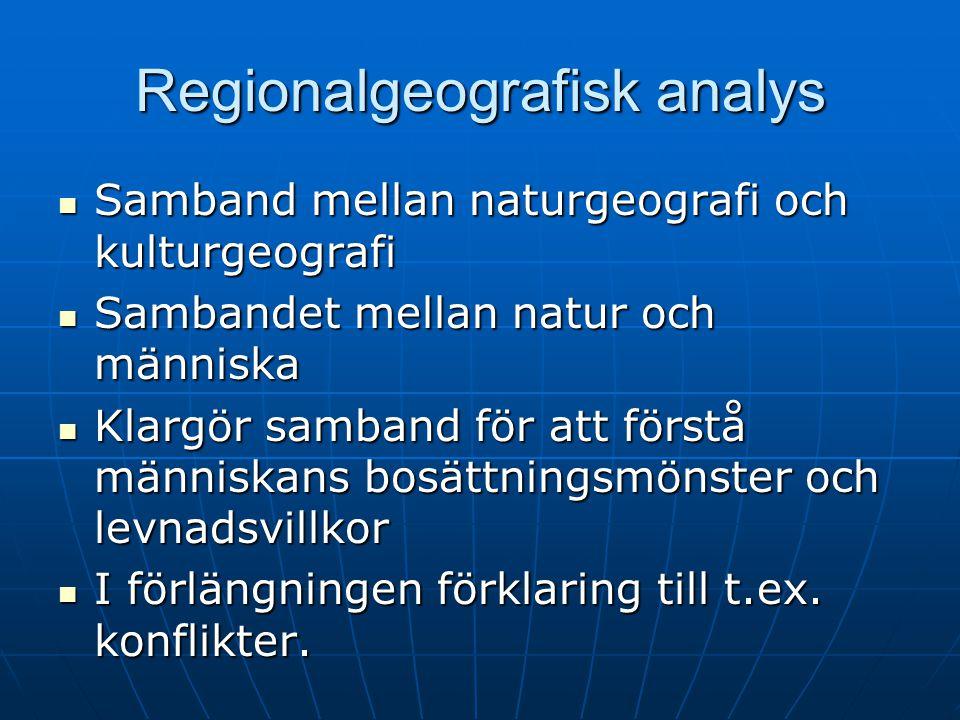 Regionalgeografisk analys