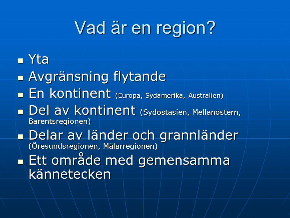 Vad är en region Yta Avgränsning flytande