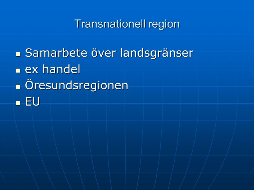 Transnationell region
