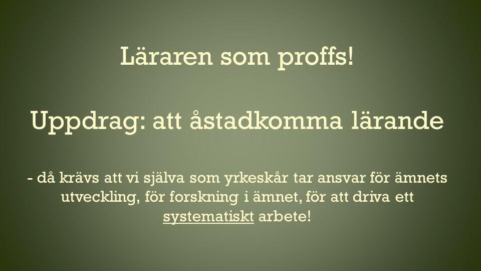 Läraren som proffs.