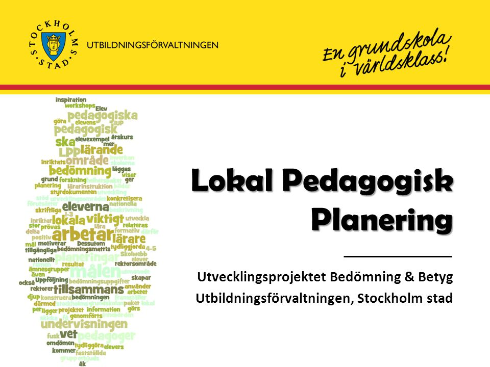 Lokal Pedagogisk Planering