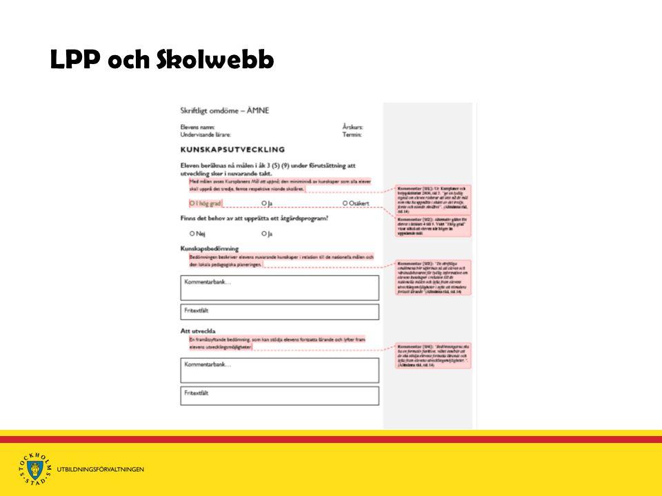 LPP och Skolwebb