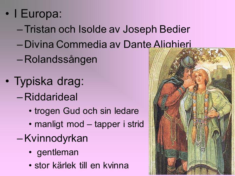 I Europa: Typiska drag: Tristan och Isolde av Joseph Bedier