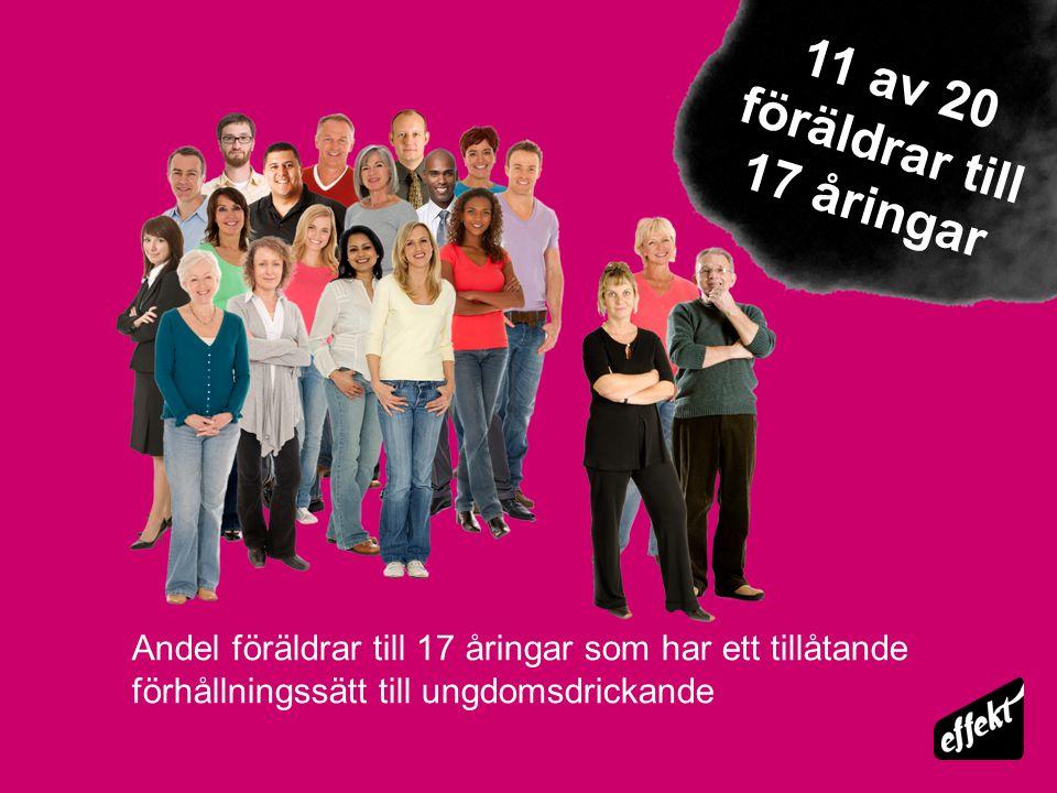 11 av 20 föräldrar till 17 åringar