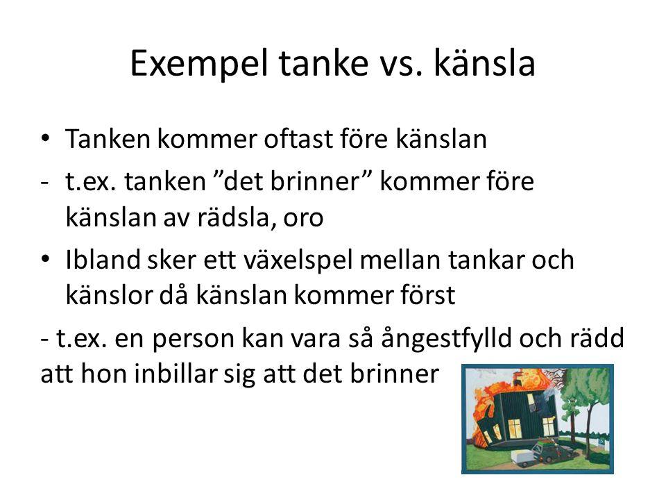 Exempel tanke vs. känsla