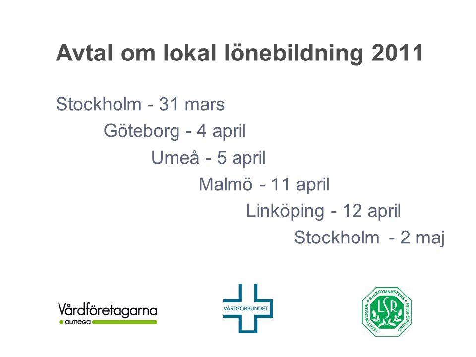 Avtal om lokal lönebildning 2011